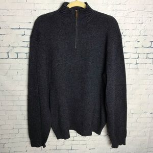 Polo Ralph Lauren XL Navy LS 1/4-zip Sweater